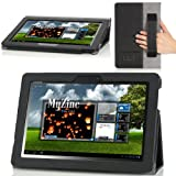 MoKo Slim Cover Case For ASUS MeMo Pad Smart ME301 / ME301T 10.1 Inch Android 4.1 Jelly Bean Tablet (BLACK)