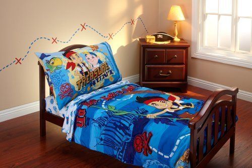 Disney Jake And The Neverland Pirates 4 Piece Toddler Bedding Set back-843129