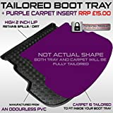 Hyundai i30 Hatchback (since 2012) Boot Liner Mat Tray With FREE Velour Purple Carpet Insert RRP £15.00