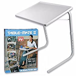 VelKro New Table Mate II Folding Table for Home Office Laptop Dining Reading