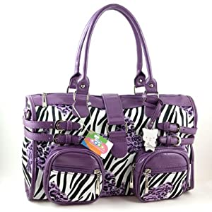 Yippydada Zebrax Baby Changing Bag (Purple) from Yippydada