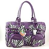 Giorry Yippydada Zebrax Baby Diaper Bag, Purple