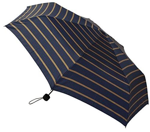 【晴雨兼用】 折りたたみ傘 収納袋入 ボーダー ミニ 58cm MSM-004