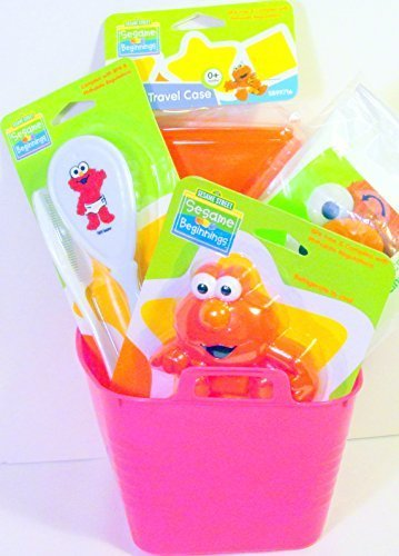 bundle-5-items-sesame-street-sesame-beginnings-baby-toddler-accessories-gift-set-with-water-filled-t