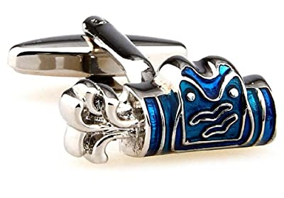 Golf Bag Blue Cufflinks with a Presentation Gift Box