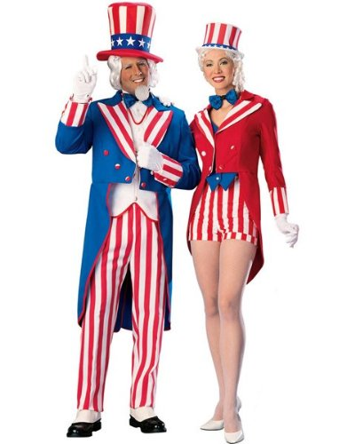 Rubies Costume Co R90348-M Deluxe Uncle Sam Adult Size Medium