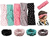 Mookiraer® Baby Girl Newest Round Dot Turban Headband Head Wrap Knotted Hair Band (5 Pack) (min01)