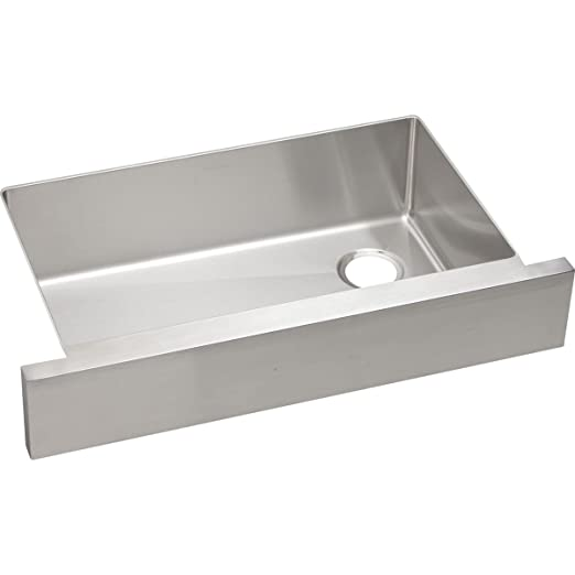 "Revere RVRUF30179R 30"" x 17"" Single Bowl Stainless Steel Squared Apron Front Undermount Kitchen Farm Sink"