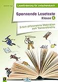 Spannende Lesetexte - Klasse 4: 3-fach differenzierte Materialien zum Textverständnis (Leseförderung für zwischendurch)