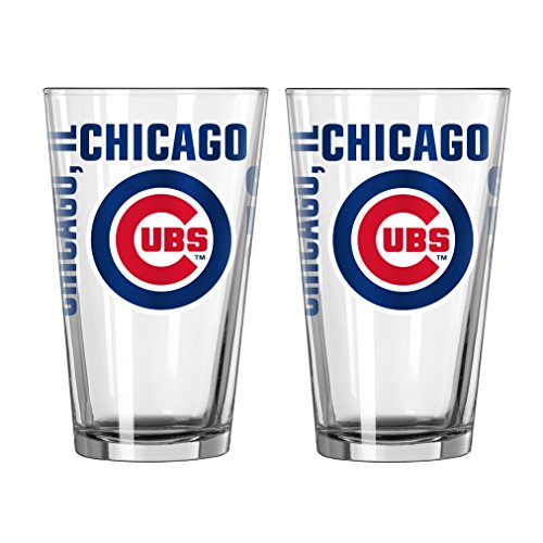 MLB Chicago Cubs Spirit Pint Glass Set (Pack of 2), 16-Ounce (Cubs Beer Glasses compare prices)