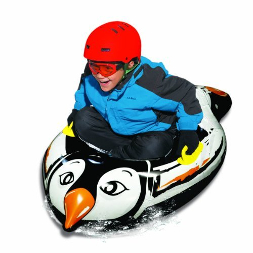 Aqua Leisure Uncle Bob'S Yeti Penguin Inflatable Snow Tube Sled front-302620