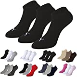 Puma Sports Socks Unisex Invisible Sneakers Three Pair Packs Of Plain/Mix - UK Sizes 2.5 up to 14