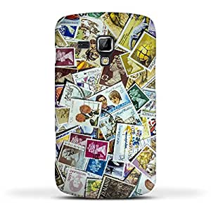 FUNKYLICIOUS Galaxy S Duos S7562 Back Cover Postage Stamp Collection Design (Multicolour)