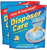 Disposer Care Garbage Disposer Cleaner, Lemon, 4 ct-2 pk