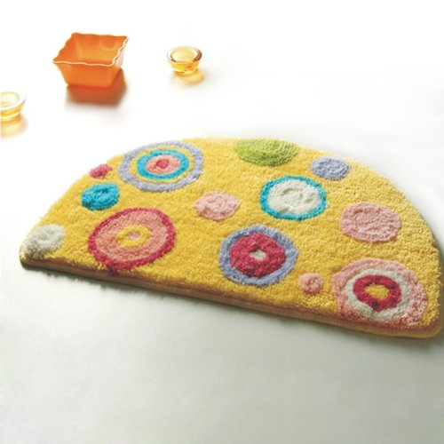Naomi - [Yellow Polka Dots] Kids Room Rugs (15.7 by 24.8 inches)