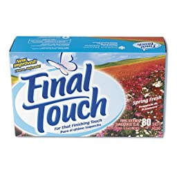 Final Touch 58480 Fabric Softening Dryer Sheet 80-Pack (Case of 6)