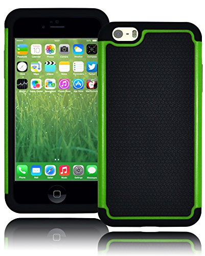 "Bastex Hybrid Deluxe Green Shock Armor Case For Apple Iphone 6 Plus, 5.5"" 6Th Generation front-327727"