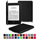 "Fintie Amazon Kindle Paperwhite SmartShell Case - The Thinnest and Lightest Leather Cover for Amazon All-New Kindle Paperwhite (Both 2012 and 2013 Versions with 6"" Display and Built-in Light), Black"