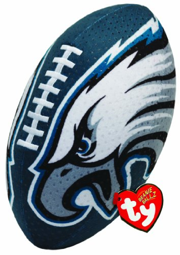 Ty Beanie Ballz NFL RZ Philadelphia Eagles Football Plush - 1