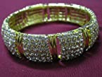 Bangles and bracelets - Diamond studded golden bangle