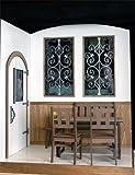 ミニチュア ドールハウス 初回発売記念 1/6スケール L型アイアン窓とドアのハウス