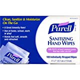 PURELL Sanitizing Hand Wipes Individually Wrapped 100-ct. Box