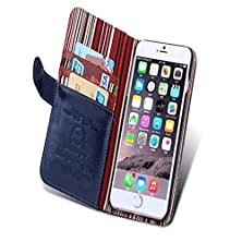 buy Iphone 6 Plus (5.5 Inch) Case,Afly(Tm) Printing Line Manual Car Crazy Ma Wen Card Holder Holster For Apple Iphone 6 Plus (5.5 Inch) (Blue)