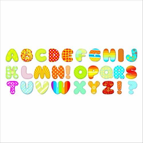 107 tlg set wandsticker alphabet a bis z wandtattoo. Black Bedroom Furniture Sets. Home Design Ideas