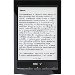 "Sony PRS-T1 6"" Digital E-Ink Pearl eReader with Wi-Fi (Black)"