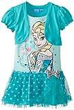 Disney Little Girls' Frozen Elsa Dress with Shrug