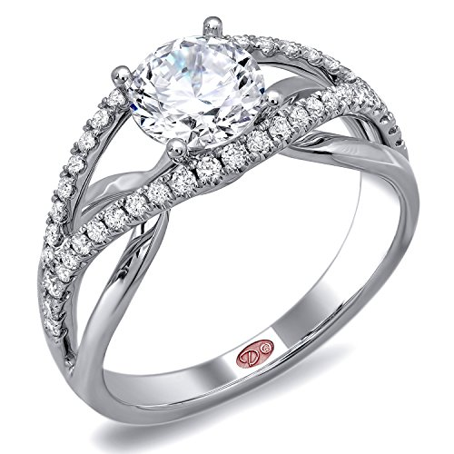 Demarco Love Token Collection Dw5708 18 Kt White Gold Ring W/ 0.32 Carats Of Round Brilliant Cut Diamonds