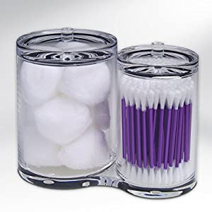 Epica Clear Cotton Ball & Swab Organizer