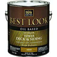 Best Look Oil-Based Exterior Deck Stain & Siding Toner-OIL CEDAR DECK TONER