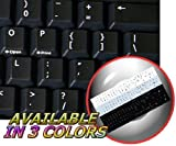 REPLACEMENT ENGLISH US KEYBOARD STICKERS BLACK BACKGROUND FOR DESKTOP, LAPTOP AND NOTEBOOK