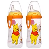 NUK Disney Winnie the Pooh 10 Ounces Active Cup Silicone Spout, 12+ Months, 2-Pack
