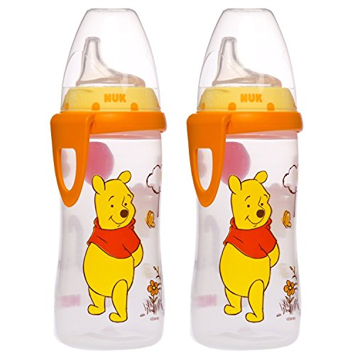 NUK Disney Winnie the Pooh 10 Ounces Active Cup Silicone Spout, 12+ Months, 2-Pack - 1
