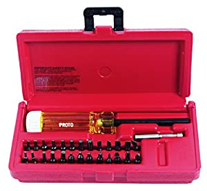 stanley proto j61929 28 piece magnetic screwdriver bit set hand tool sets. Black Bedroom Furniture Sets. Home Design Ideas