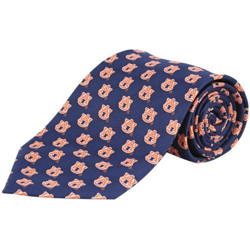 Auburn Tigers Pattern Poly Tie