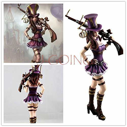 Nicky's Gift League of Legends LOL Heroes Caitlyn PVC Figure Statue Toy Collection Best Gift