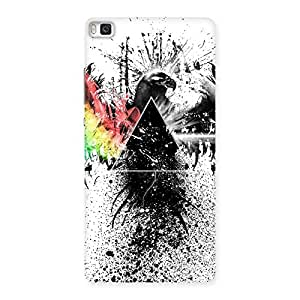 Cute Prism Eagle Multicolor Back Case Cover for Huawei P8