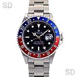 [ロレックス]ROLEX腕時計 GMTマスターII ブラック/レッドブルーベゼル Ref:16710 メンズ [中古] [並行輸入品]