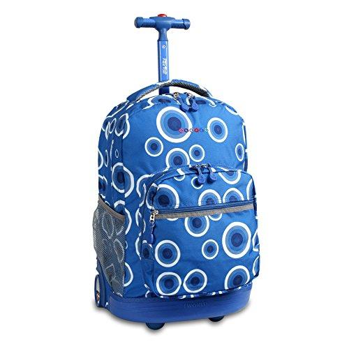 World New York Sunrise Rolling Backpack, Blue
