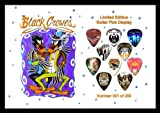 Black Crows Premium Celluloid Guitar Picks Display Large A4 Sized