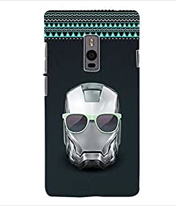 ColourCraft Skull Back Case Cover for ONEPLUS TWO