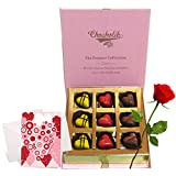 Best Combination Of Chocolates With Rose And Love Card - Chocholik Belgium Chocolates