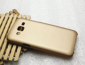 DEFENDER Rubberized Protective Flexible Soft MATTE Bumper Back Case Cover for Samsung Galaxy J5 - GOLD