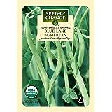 Seeds of Change Certified Organic Bean, Blue Lake Bush - 17.6 grams, 50 Seeds Pack