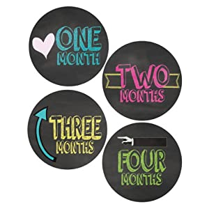 Chalkboard Style Monthly Onesie Stickers - Baby Photo Prop - Newborn Sticker - Bodysuit Stickers - Chalkboard Stickers