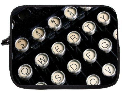 Rikki Knight 10 inch Rikki KnightTM Antique Typewriter Close Up Laptop sleeve