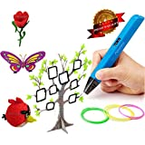 3D Printing Pen Doodle Printer Pen With LED / OLED Screen 4th Generation Newest Technology V4 RP800A Lightweight Portable Compatible with Power Bank + FREE 3 Packs of ABS Filament Colors Total 30Ft